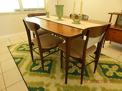 Vintage B.p. John Mid Century Modern Dining Table And 4 Chairs