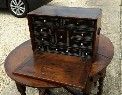 Antique English Multi Drawer Cabinet Strong Box