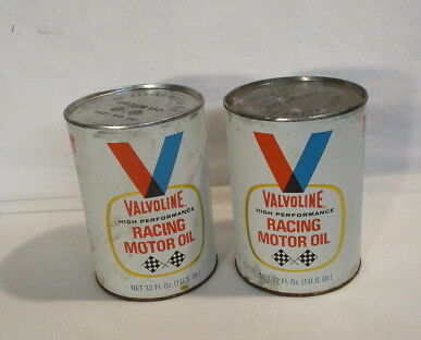 Two Valvoline Racing Oil Cans Sealed Vintage Valvoline Cans Unopened