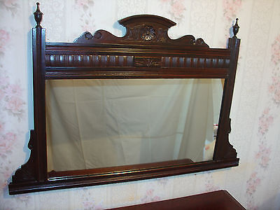 Antique Edwardian Fireplace Overmantle Mirror