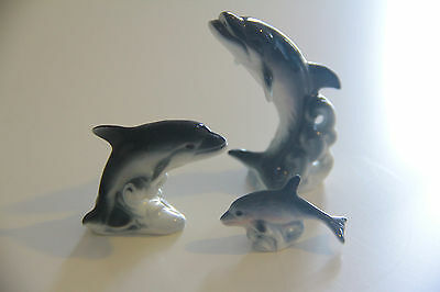 Herter's Collectible Figurines Vintage Adorable Dolphin Family