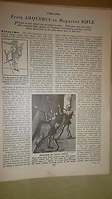 RIFLE PRINT ADVERTISEMENTS LOT  -  WInchester DAISY Firearms ARMY RIFLE