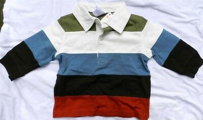 Polo Shirt Striped Gymboree Long Sleeve Cotton Spring Boy size 6-12 month New