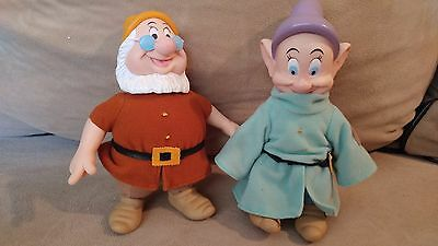 Disney/ Applause Snow White and the Seven Dwarfs 6'' Doc and Dopey Plush
