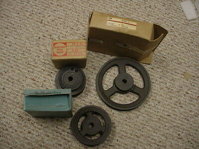 "3- New Pulleys  Ac60/1/2""--Ac40 1/2'--Adjustable Pitch Sheave"