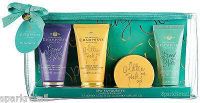 Champneys SPA FAVOURITES Gift Bag Minis: Body Wash/Scrub/Butter & Hand Cream