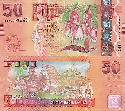 Fiji 50 Dollars (2013) - Flora & Fauna Issue/p118 UNC