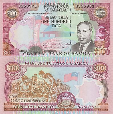 Samoa 100 Tala (ND) - King/Parliament/p37 UNC