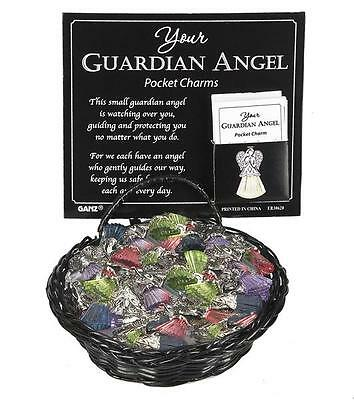 (1)Your Guardian Angel Charm Pocket Token Coin with Verse Silver Pink
