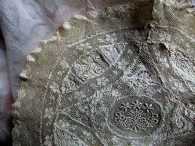 Most Delicate Dainty Sheerest Antique Edwardian French Normandy Lace Doily Trim