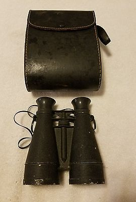 Vintage Sport Glass Binoculars w/Case (Pre-Owned) Made in USA