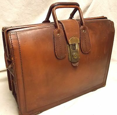 Antque Leather Briefcase Doctor's Bag