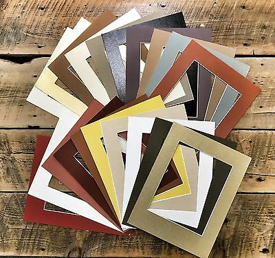 Pack of 20 11x14 MIXED COLORS White Core Picture Mats for 8x10 Photos