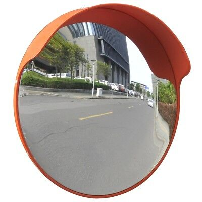 "S# 45cm 18"" Traffic Safety Outdoor Mirror Convex Security Wall Pole Dome Plastic"