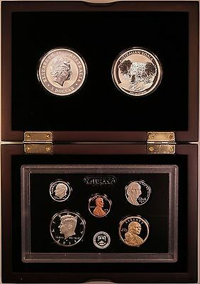 2014 Uncirculated Silver Australian Koala Coins and US Proof Coins in Case