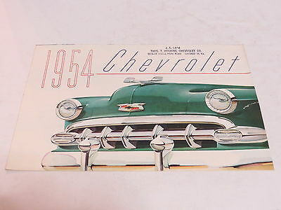 * Vtg 1954 Chevrolet Automobile Brochure *
