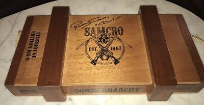 Rare Sons of Anarchy Signed Rusty Coones Clubhouse Edition KG-9 10 Ct Cigar Box