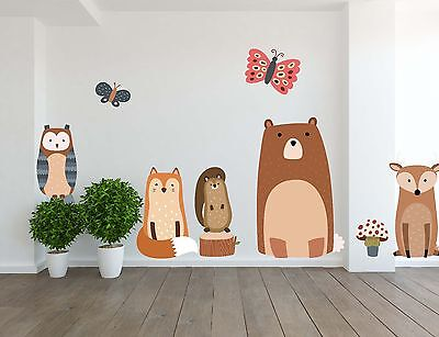 Removable Vinyl Wall Decal for Kids Room & Nursery Woodland Animals