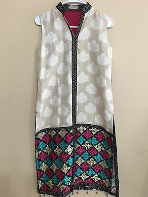 US SELLER Women Indian/Bollywood Kurti/Kurta/Tunic/Top W/EMBROIDERY PARTY
