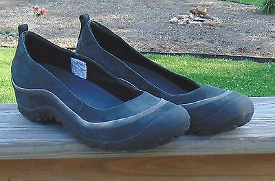 Merrell Plaza Ballet Leather Slip On Casual Shoes Womens Black Size 8 1/2