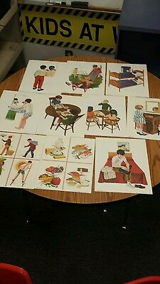 Set of 10 Vintage Health Posters 1971 Perfect Condition