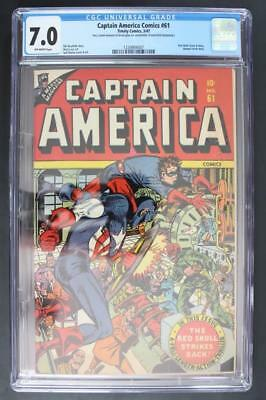 Captain America Comics #61 - CGC 7.0 FN/VF - TIMELY 1947 - Red Skull/Human Torch