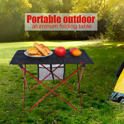 Aluminum Alloy Folding Picnic Table Desk Carrying Tool For Camping Traveling ES