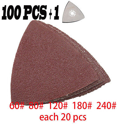 101Pcs Sanding Disc Pads Sandpaper For Bosch Clarke Fein Oscillating multi Tool