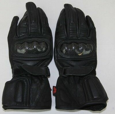 Torque Motorcycle Gloves: SY-066: Size Small (S): Black with Knuckle Armour