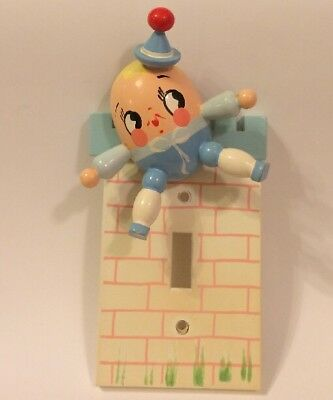 Vintage Humpty Dumpty Light Switch Cover Plate By IRMI Nursery Plastics Inc.