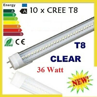 10 X Led Light 24W 36W Tube T8 1.2M Clear Fluorescent Cool White Frost Bulb New