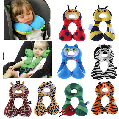 Baby Child Head Neck Support Protect Stroller Travel Car Seat U Pillow Cushion