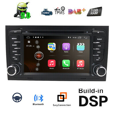 Android 7.1 Car DVD GPS Navi Stereo Radio Fr 2002-2008 AUDI A4 B6 S4 B7 RS4 SEAT