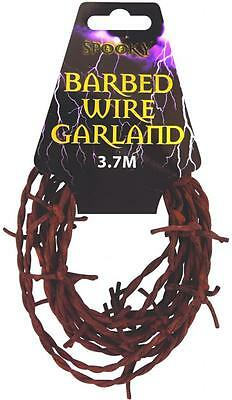 3.7M RUSTY BARBED WIRE SPOOKY GARLAND Halloween Party Decoration Prop V09447