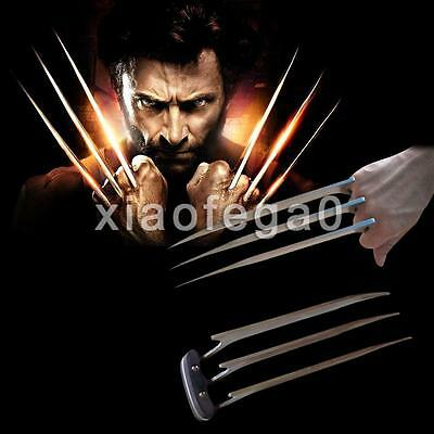 2PCs X-Men Wolverine Claws Stainless Steel Apocalypse Blade Hero Cosplay Costume