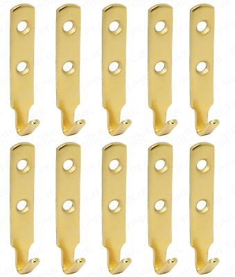 10x EXTRA LARGE BRASS PICTURE HOOKS Strong Wall Hanging Mirror Frame Hanger J