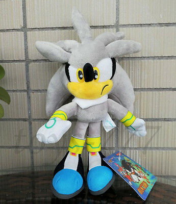 Sonic Silver the Hedgehog Series 7'' Stuffed Animal Cartoon Game Plush soft Toy