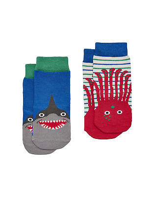 Joules Baby Boys Two Pack Character Socks - Octopus
