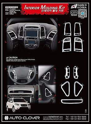Autoclover Chrome Interior Molding Trim Cover for Hyundai 07-09 Santa Fe