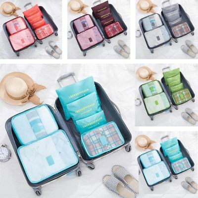 6PCS Travel Storage Bag Clothes Underwear Packing Cube Luggage Organizer Pouch
