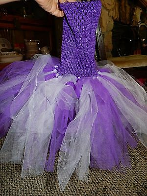 Tutu purple and white, size 2t-4t?, great fun item in excellent condition