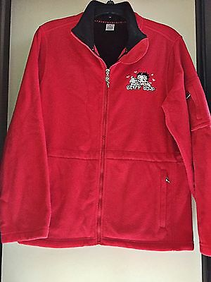Betty Boop Red fleece Jacket Size Medium from The Danbury Mint - NEW