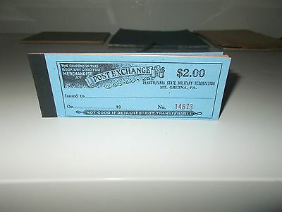 Png Military Reservation Post Exchange Mt. Gretna, Pa. Coupon Book