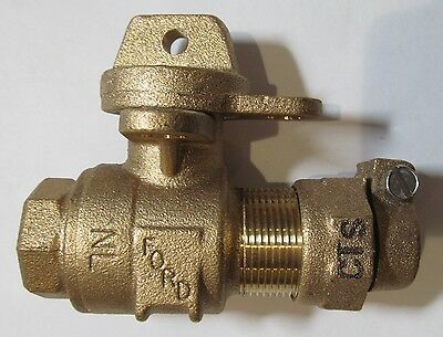"New Ford 3/4"" Lockable Water Meter Box Ball Valve No Lead Cts B41-333W-Nl"