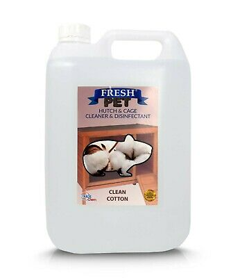 5L FRESH-PET CLEAN COTTON - Rodent Specialist Disinfectant Rabbit Hutch Cleaner