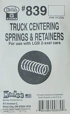 Kadee #839 (G Scale) Truck Centering Springs & Retainers for: LGB 2-Axel Cars