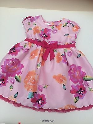Baby Girls M&S Floral Summer Occasion Dress Age 6-9 Months
