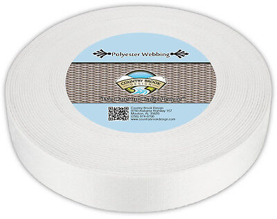 Country Brook Design® 2 Inch Printable Heat Set Polyester Webbing, 50 Yards