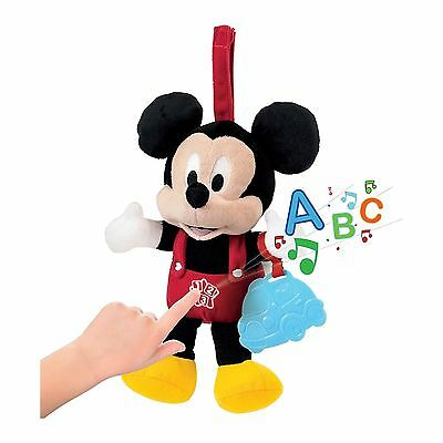 Cuddle & Learn Baby Mickey Toy By Clementoni Sings Numbers & Words NEW BOXED