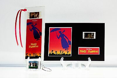 MARY POPPINS - 3 Piece Movie Film Cell Collection Gift Set Key Ring, Bookmark